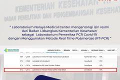 Naraya Medical Center kantongi izin jadi laboratorium pemeriksa PCR COVID-19